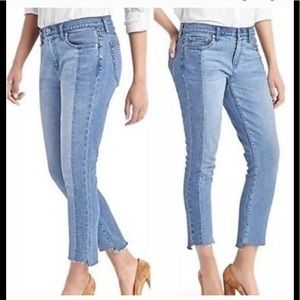 GAP 1969 Real Straight Two Toned Jeans, Size 32